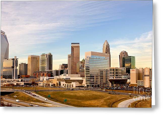 Charlotte Skyline At Daylight Greeting Card by Patrick Schneider