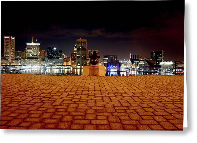 Charm City Skyline Greeting Card
