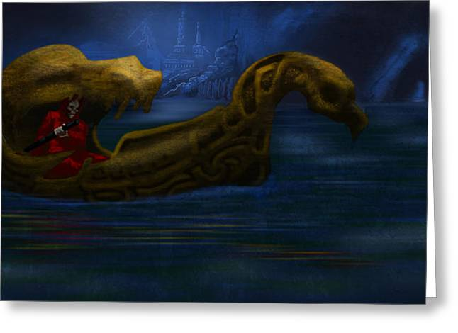 Charon Greeting Card by William McDonald