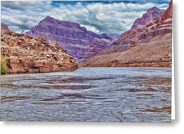 Charting The  Mighty Colorado River Greeting Card by Douglas Barnard