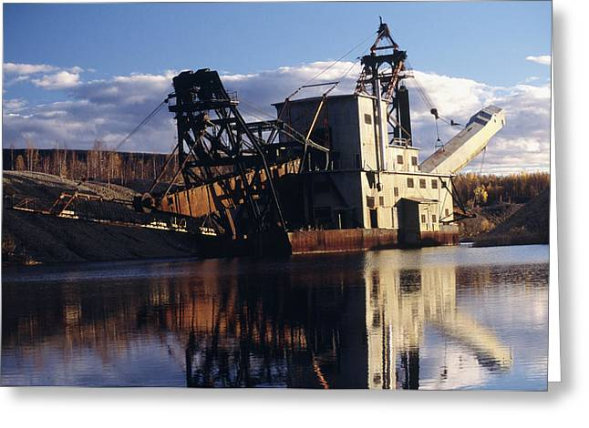 Chatanika Gold Dredge, Alaska Greeting Card by Alan Sirulnikoff