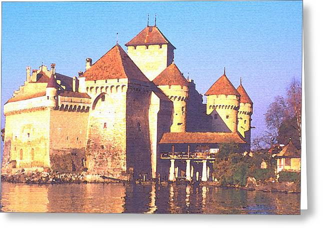 Chateau Chillon Greeting Card