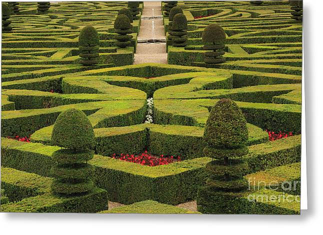 Chateau De Villandry Greeting Card by Louise Heusinkveld