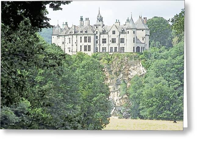 Chateau De Walzin Belgium Greeting Card by Joseph Hendrix