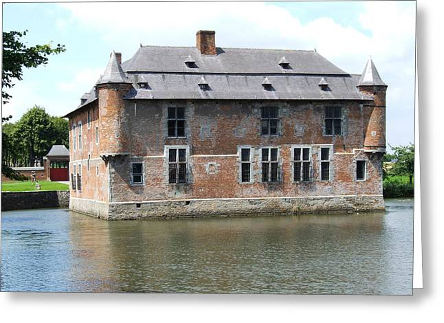 Greeting Card featuring the photograph Chateau Feodal De Fernelmont Belgium by Joseph Hendrix