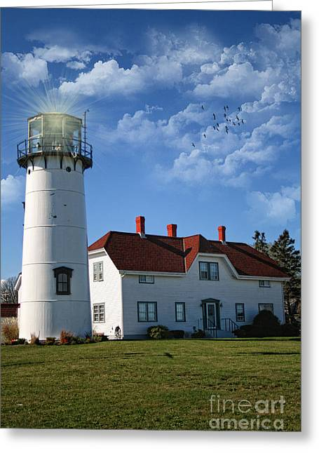 Chatham Lighthouse II Greeting Card by Gina Cormier