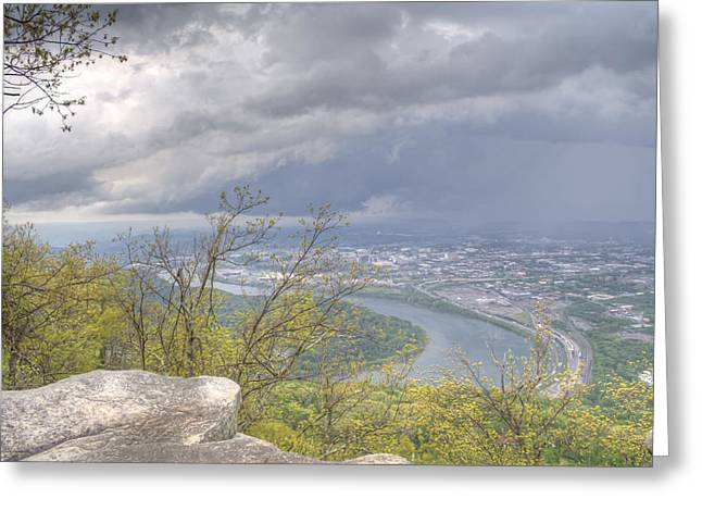 Chattanooga Valley Greeting Card by David Troxel