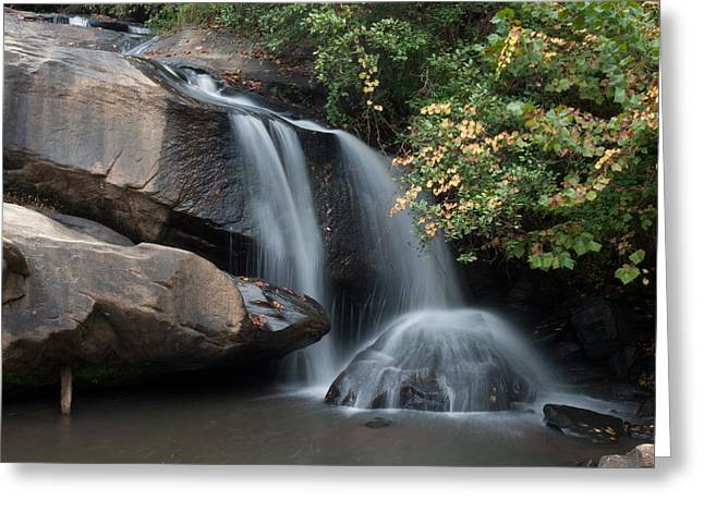 Chau-ram Falls Greeting Card by Lynne Jenkins