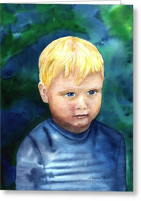 Greeting Card featuring the painting Chayton by Sharon Mick