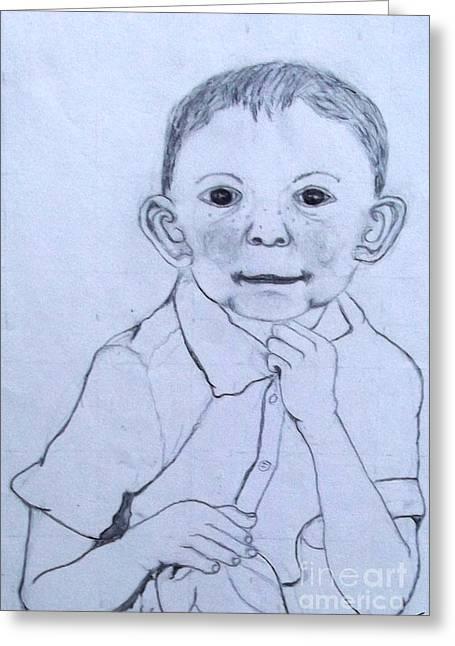 Cheerful Smile Greeting Card by Ayasha Loya