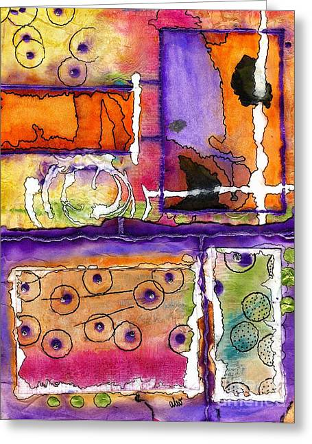 Cheery Thoughts - Warm Wishes Greeting Card by Angela L Walker