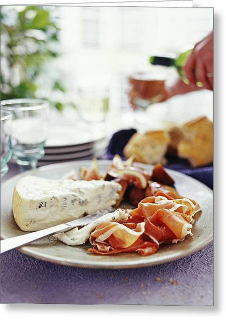 Cheese And Ham Meal Greeting Card by David Munns
