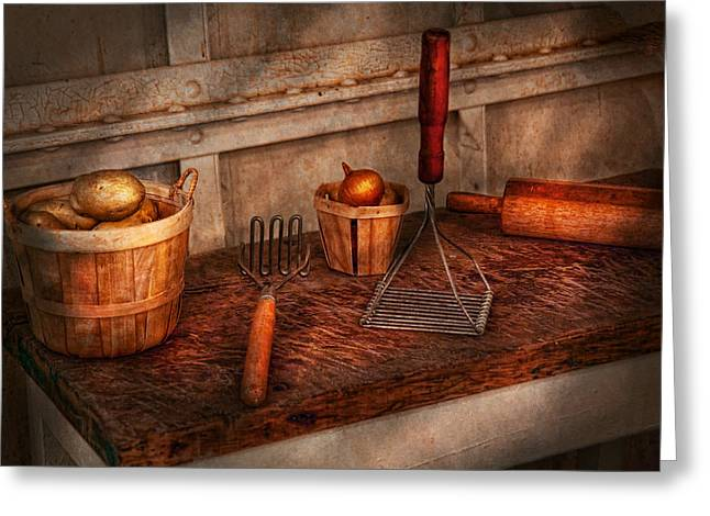 Chef - Food - Equipment For Making Latkes Greeting Card by Mike Savad