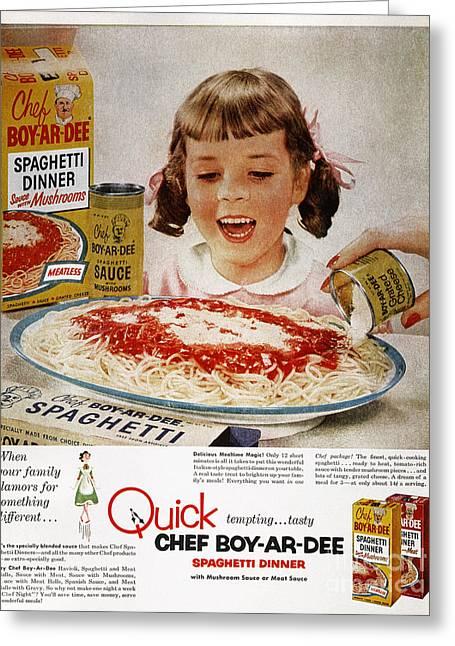 Chef Boy-ar-dee Ad, 1954 Greeting Card by Granger