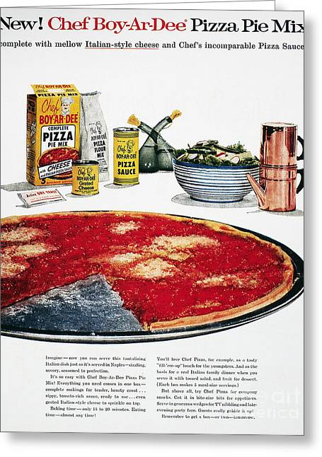 Chef Boyardee Ad, 1956 Greeting Card by Granger