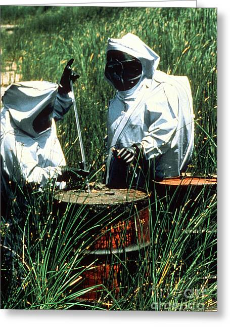 Chemical Waste Cleanup Greeting Card