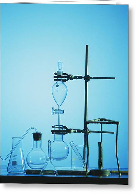 Chemistry Apparatus Greeting Card by Andrew Lambert Photography