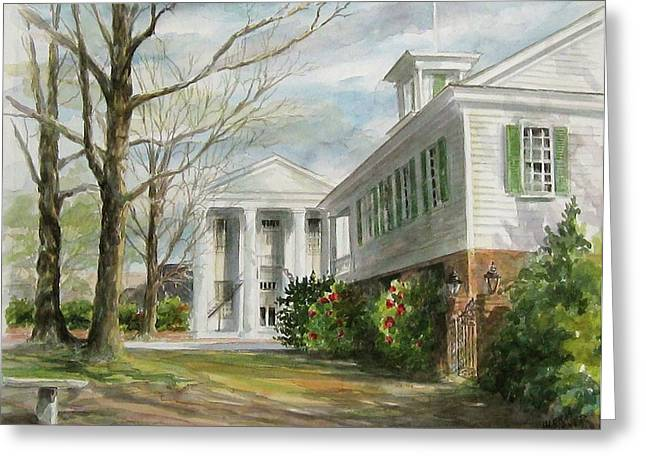 Cheraw Town Hall Greeting Card by Gloria Turner