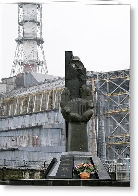 Chernobyl Power Station Monument Greeting Card by Ria Novosti