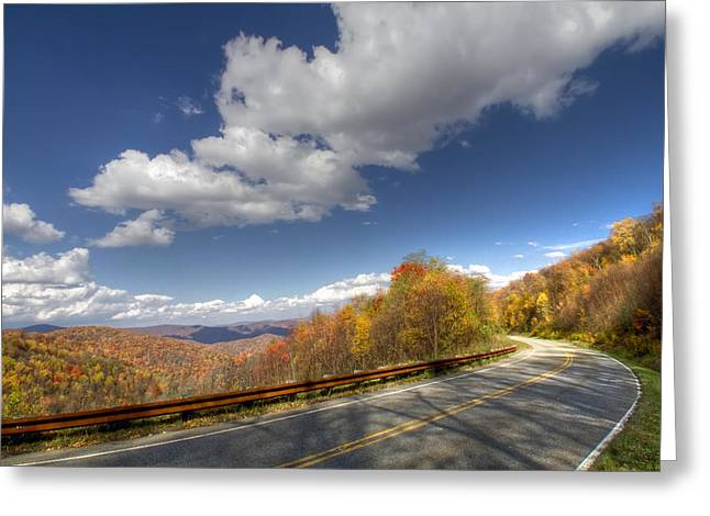 Cherohala Skyway Greeting Card by Debra and Dave Vanderlaan