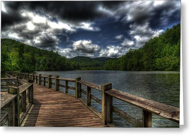 Cherokee Lake Greeting Card by Greg and Chrystal Mimbs