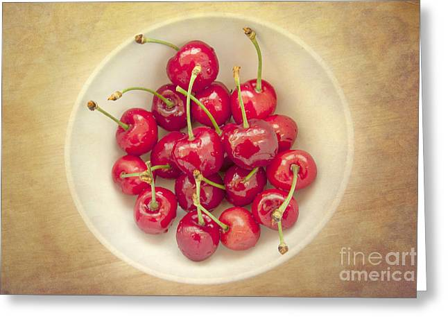 Cherries  Greeting Card by Violet Gray