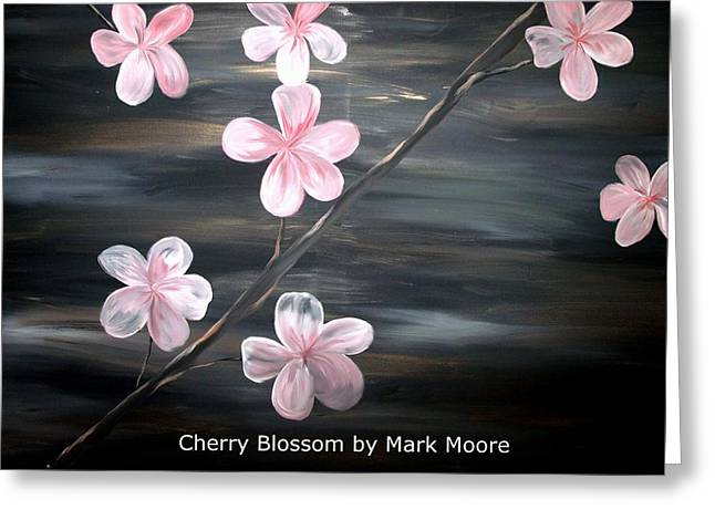 Cherry Blossom By Mark Moore Greeting Card by Mark Moore