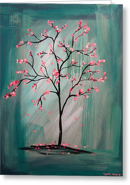 Cherry Blossom Greeting Card by Lynsie Petig