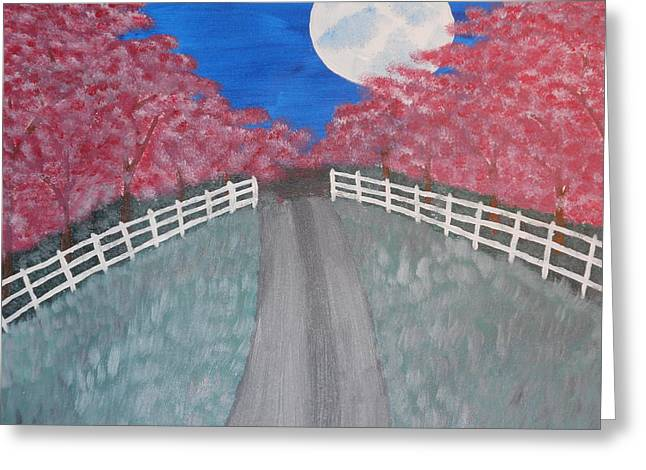 Cherry Blossom Path Greeting Card by Kimberly Hebert