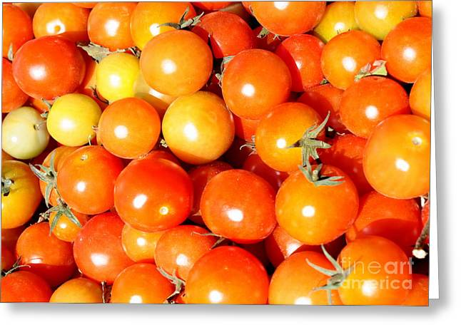 Cherry Tomatoes Greeting Card by Carol Groenen