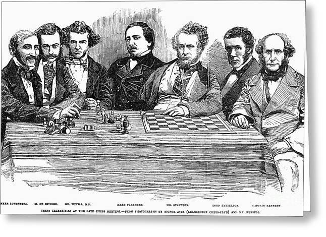 Chess Players, 1855 Greeting Card by Granger