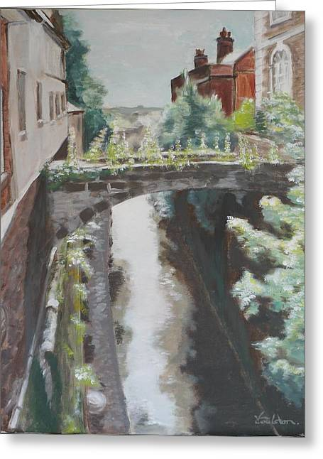 Chester Canal Greeting Card by Veronica Coulston