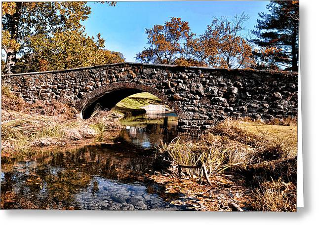 Chester County Bow Bridge Greeting Card by Bill Cannon