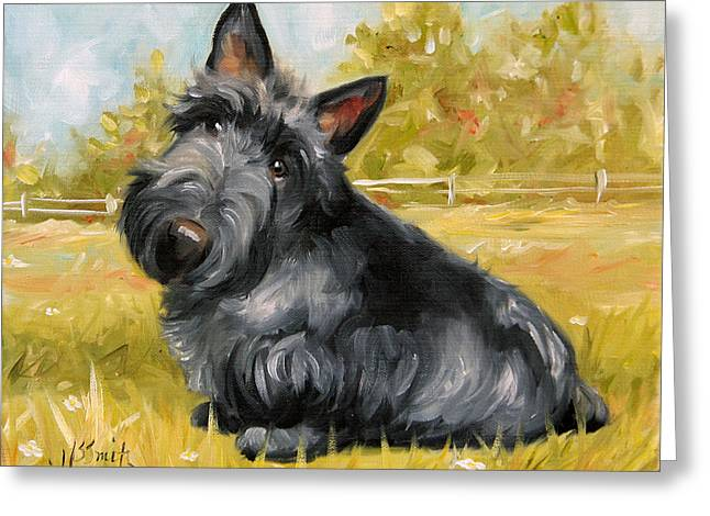 Chester Greeting Card by Mary Sparrow