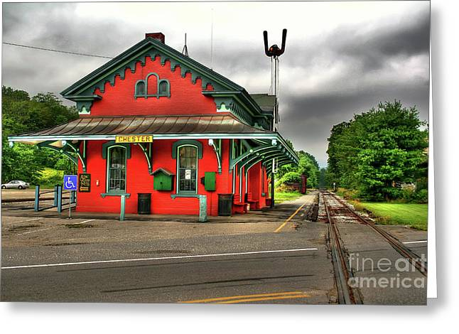 Greeting Card featuring the photograph Chester Station by Adrian LaRoque