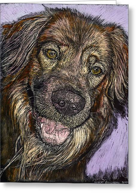 Chester The Dog Greeting Card by Robert Goudreau