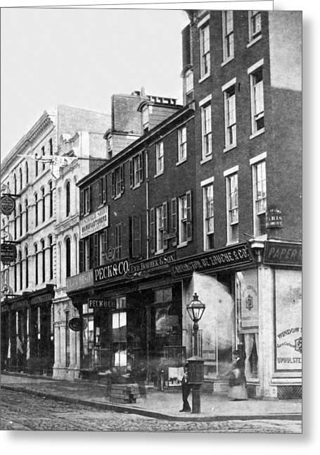 Chestnut Street - South Side Of Philadelphia - C 1870 Greeting Card