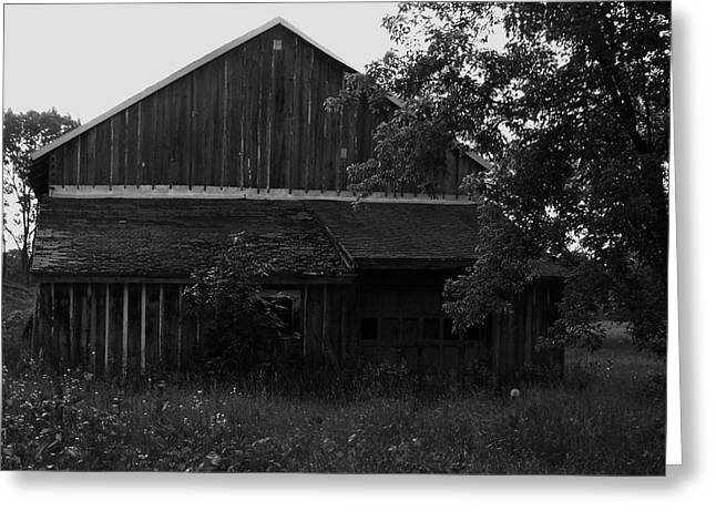 Chet's Barn Greeting Card by Anna Villarreal Garbis
