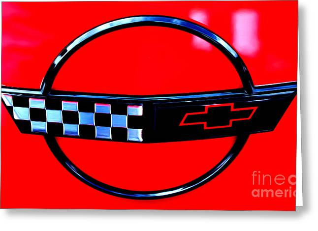 Greeting Card featuring the digital art Chevrolet Corvette by Tony Cooper