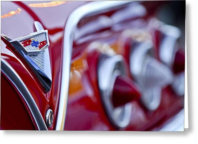 Chevrolet Impala Emblem Greeting Card by Jill Reger