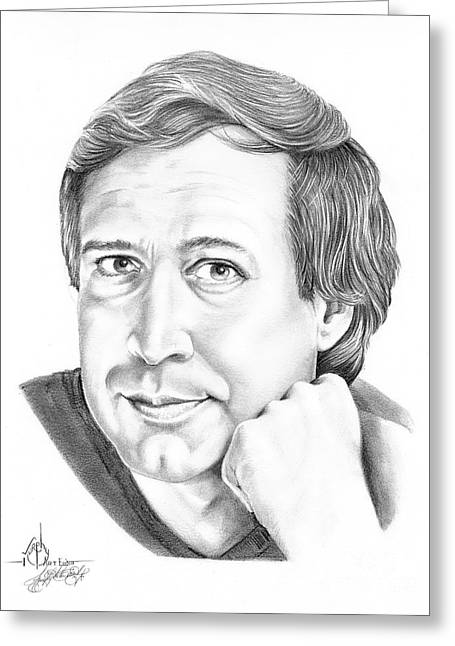 Chevy Chase Greeting Card by Murphy Elliott