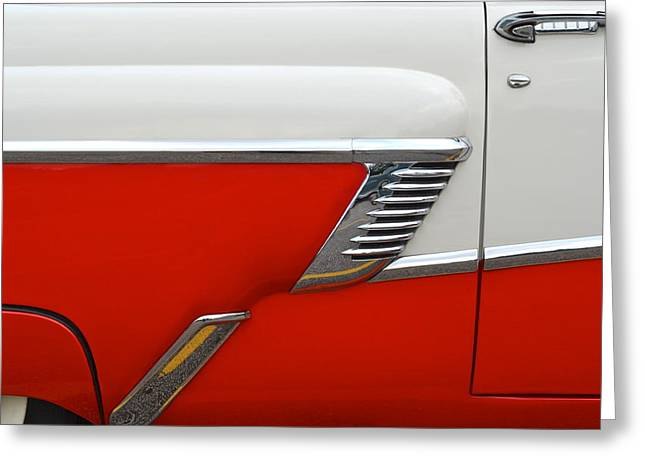 Chevy Door Greeting Card by Frozen in Time Fine Art Photography