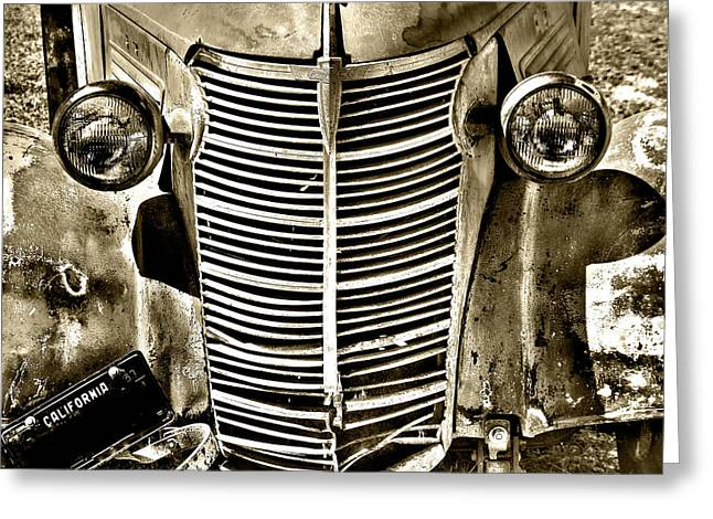 Chevy Grill Work Greeting Card