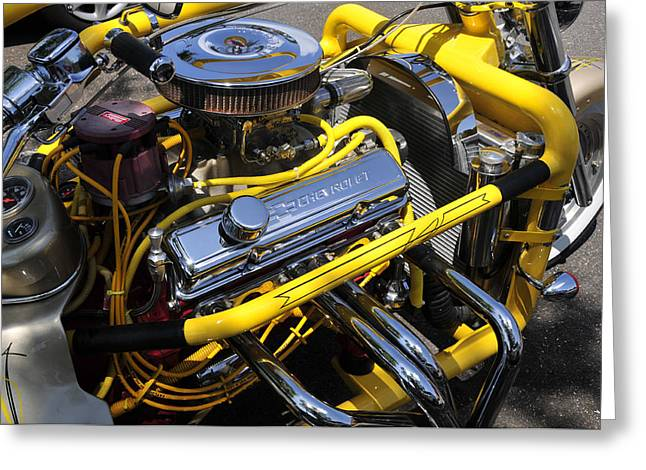 Chevy Motorcycle Greeting Card by David Lee Thompson