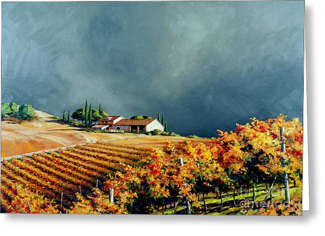 Chianti Storm Greeting Card by Michael Swanson
