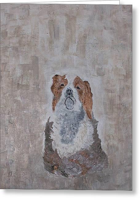 Chiari Dog Greeting Card by Roy Penny