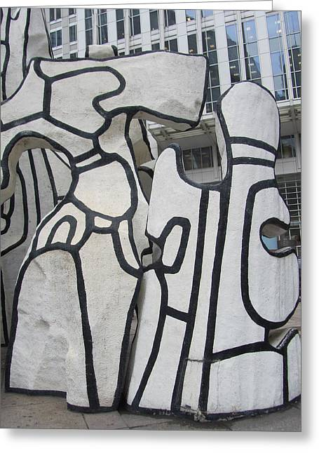 Chicago Dubuffet-2 Greeting Card by Todd Sherlock
