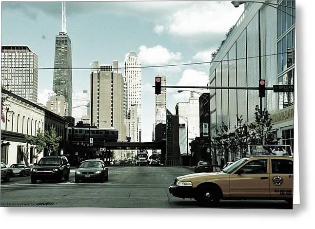 Chicago Greeting Card by Ewa Pasek Riley
