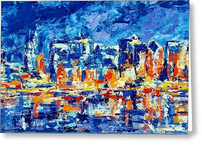 Chicago Lake Front Greeting Card by Kat Griffin