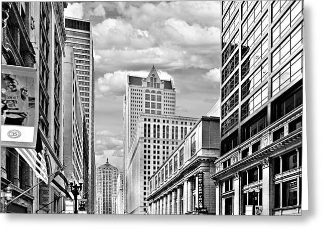 Chicago Lasalle Street Greeting Card by Christine Till